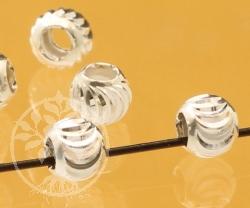 Silberperle Lamellen 3x3mm 1mm Loch Silber 925