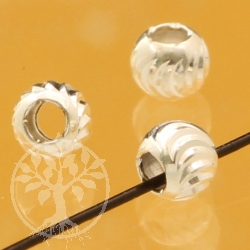 Silberperle Lamellen 4x4mm 1.5 mm Loch Silber 925