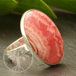 Rhodochrosite Sterling Silver 925 Ring Size54,25x25mm