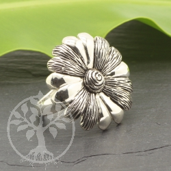 Sterling Silver 925 Ring Flower 24x26mm