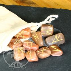 Runen Schriftsteine Mondstein Runensteine aus echt Mondstein