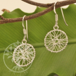 Dreamcatcher earrings 925 sterling silver 14x28mm
