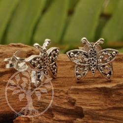 Silver Butterfly Earstud 11x12mm