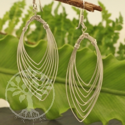 Earrings Sterling Silver 925 20x58mm