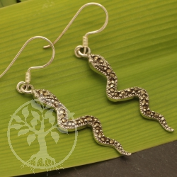 Silver Earring Snake Sterling Silver 925 49mm