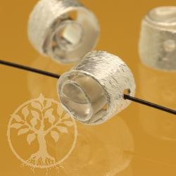 Silberperle Spirale Sterlingsilber 925 5x7mm
