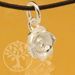 Rose Pandent Valentine Sterling Silver 925 8x16mm