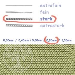 Perlseide jadefarben 0,90mm stark