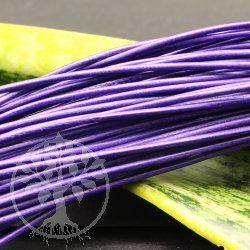 Leather ribbon goat round lilac 1,5 mm