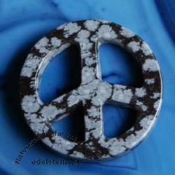 PEACE aus Schneeflockenobsidian