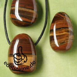 Tiger`s eye Tiger Iron in One Stone Pendant AA Quality 20/30mm