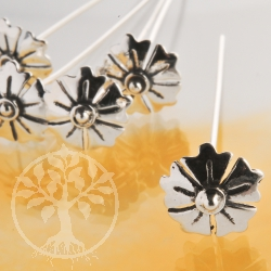 Flower Headpin 51x0,7mm Sterling Silver