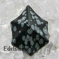 Schneeflocken Obsidian Anhaenger STEPLA ca. 30mm