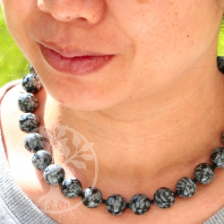 Amethyst Neklace 45cm/14mm Natural