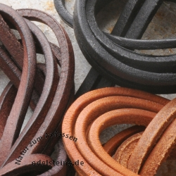 Leather straps strong 2mtr. about 4mm