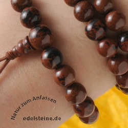Obsidian Armband Freiheit/geistige Unverwundbarkeit Schwarz/braun