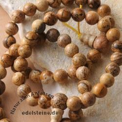 Willenskraft Landjaspis Armband mit original Powerbead Perle aus Naturstein
