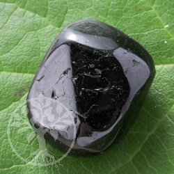 Black tourmaline tumbled stones