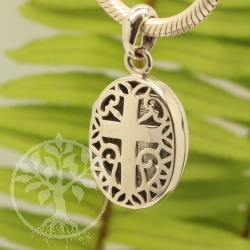 Cross Pendant Locket Sterling Silver 925 17x32mm