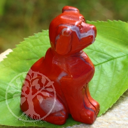 Dog Figure Red Jasper 45mm