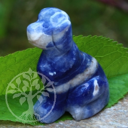 Sodalite dog carving 45mm