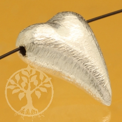 Silberperle Herz Swing 9mm Sterling Silber 925 asymmetrisch