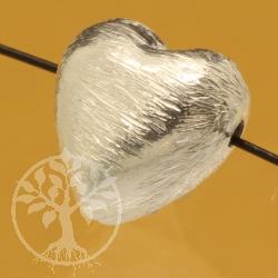 Silberperle Herz Sterling Silber 925 7x8mm