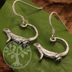 Ohrhänger Leguan Survival Lurch Silber 925