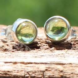 Peridot Stud Earrings Circle Sterlingsilver 925 7mm