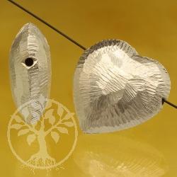 Herz Silberperle Großes Herz Sterling Silber925 20X20mm auch als Anhänger zu tragen