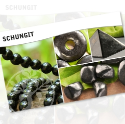 Shungit Mineral Stone Description Cards