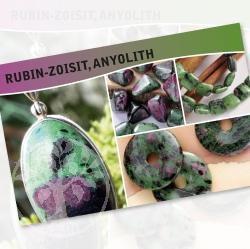 Rubin-Zoisit Steine Karte