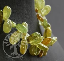 Granat Grün Edelsteine Halskette Tropfen