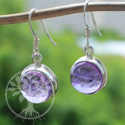 Amethyste Earring Circle Sterling Silver 925 13X16mm