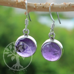 Amethyste Earring Circle Sterling Silver 925 12mm