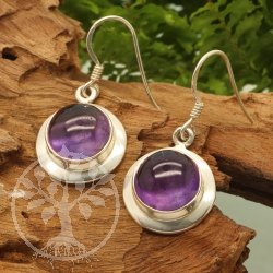 Amethyste Earring Circle Sterling Silver 925 16X20mm