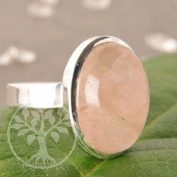 Rose quartz ring - oval - size 59 - Rosie