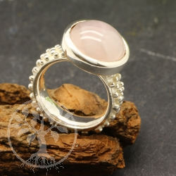 Rose quartz ring - size 54 - Noppi