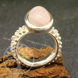 Rose quartz ring - size 54 - Tiffany