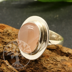 Rose quartz ring - size 59 - Pink UFO
