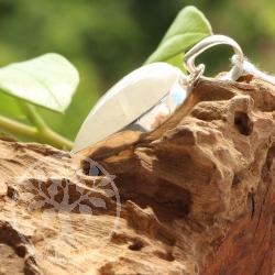 Regenbogenmondstein Silberanhänger Tropfenanhänger 25*18mm Stein