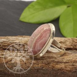 Rhodochrosite Edelstein Ring Silver 925 open Size.
