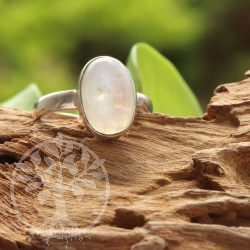 Rainbow Moonstone Silver 925 Ring Size 58