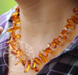 Amber Necklace Cognac 47cm Drop Shape Amberbeads