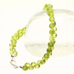 Peridot Bracelet faceted