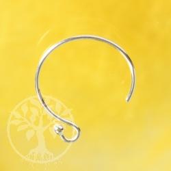 Ohrhaken Kreis Pi aus echt Sterlingsilber 13mm