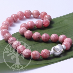 Rhodochrosite Necklace Silver 925