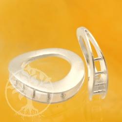 Ring-Ring-Silberverschluss mehrreihig matt 925