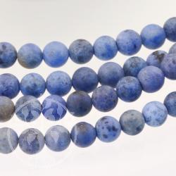 Dumortierit jewelry beads strand 6mm/40cm MATT