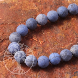 Dumortierit jewelry beads in strand 10mm MATT